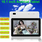 """New 10.1"""" inch Android 4.4 Quad-Core 16GB Tablet PC Dual Camera WIFI Bluetooth"""