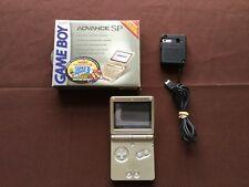 "Nintendo Game Boy Advance SP Handheld System Gold Edition w/ Box Toys ""R"" Us"