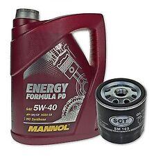 5 Liter MANNOL SAE 5W-40 Formula PD Motoröl + Ölfilter SM 105 von SCT Germany