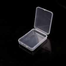 1x Small Plastic Clear Transparent With Lid Collection Container Case Storage