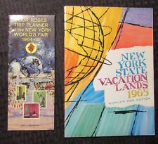 1965 New York State Vacation Lands NY WORLD'S FAIR & FOUR ROSES Trip Planner FVF