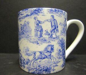 Extra Large Fine Bone China One Pint Pot Mug Village Life Chintz By Crown Trent