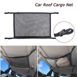 Car Roof Cargo Storage Net Mesh Adjustable SUV Organizer Ceiling Pocket Luggage