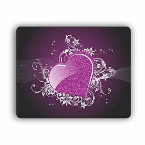 Purple Hearts Mouse Pad For Computer Home and Office