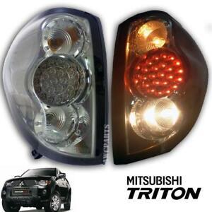 Fit 2005-2014 Mitsubishi L200 Triton Tail Lamp light Led Ml Mn Black Smoke