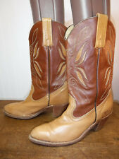 FRYE 7335 Brown Leather Western Boots Fashion Womens Size 10