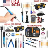 Electric Soldering Iron Gun Tool Kit 110V Desoldering Welding Pump Tool Set USA