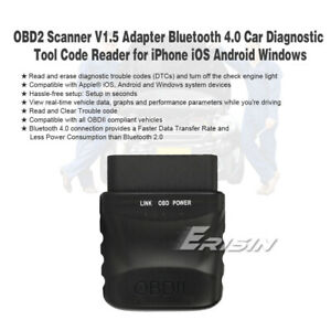 OBD2 V1.5 Bluetooth 4.0 Car Diagnose Scanner Tool iOS Android Win CE PC Devices