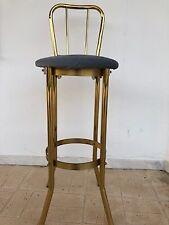 vintage home bar kitchen gold metal stool