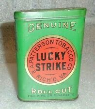 Lucky Strike upright pocket tobacco tin early version