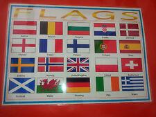 Bandiere-A4 laminato POSTER-Display/Classe/VIGILATRICE d'infanzia/primo apprendimento