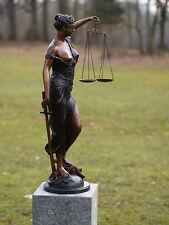 Bronzeskulptur, Justizia mit Waagschale, Dekoration für Heim und Garten *