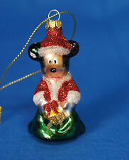 "Mickey Mouse 2-1/2"" Blown Glass Ornament Disney Parks 2011"