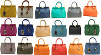 Borsa elegante bag donna pelle made in italy manici e tracolla a spalla 8005
