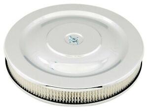 """Mr Gasket 1480 Chrome Air Cleaner / Filter 14 x 2-1/4"""" - Edelbrock Holley"""