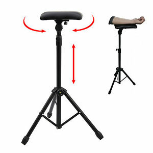 Fully Adjustable Stand TATTOO Arm Leg Rest studio chair bed Portable Stool