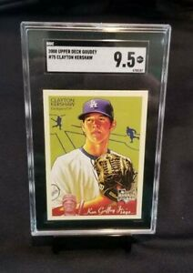 CLAYTON KERSHAW Dodgers 2008 Upper Deck Goudey #75 Rookie Card RC SGC 9.5
