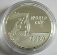 Laos 50 Kip 1991 Fußball-WM in den USA Torwart Silber