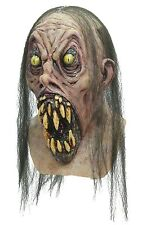 Halloween POSSESSED ZOMBIE Adult Latex Mask WITH BIG TEETH Costume NEW