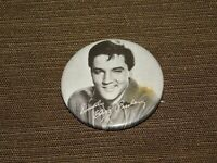 "VINTAGE 1 3/4"" ACROSS SINCERELY ELVIS PRESLEY PINBACK BUTTON"