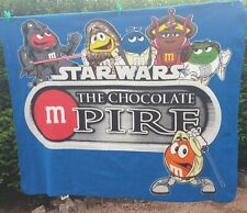 More details for m&m's blanket/throw star wars the chocolate m pire (empire) small stain see pics