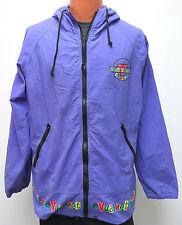 vtg VUARNET FRANCE Purple Jacket M MED 80s/90s Hood Jacket Ski Surf crazy wild