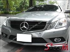 E63 Style Front Chrome Black Hood Grille For 2009-2013 C207 E250 E350 E550 Coupe