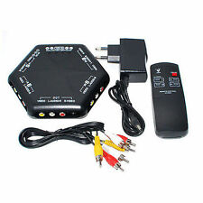 4 Ways Video Audio Game AV Switch Box Selector With Remote Control AV-666D
