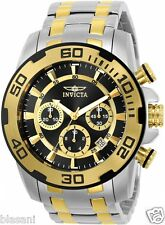 Invicta 22322 Pro Diver Men's Silver/Gold Stainless Steel Strap 50mm Watch Chron