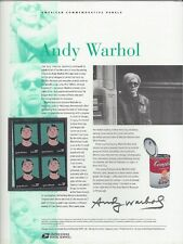 # 3652  ANDY WARHOL, ARTIST,   2002 Commemorative Panel