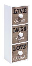 MINI Schrank Schubladenschrank 10x9x29 cm Vintage Look Shabby Live Laugh Love
