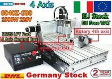 【IT】CNC 6040 1.5KW 4 Axis USB Mach3 Wood Router Engraver Milling Cutting Machine