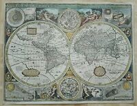 A New And Accvrat Map Of The World 1651 by John Speed Vintage Reproduction