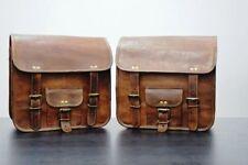 Motorrad Seitentasche 2 Taschen Braun Leder  Satteltaschen Panniers handmade bag