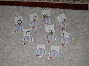 "Houston Oilers key chain Vtg New 3 1/4"" X 2 1/2"" Acrylic NFL different key rings"