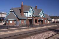 AMTRAK Railroad Train Station FLAGSTAFF AZ Original 1996 Photo Slide