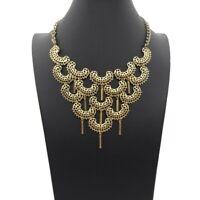 Vintage SARAH COVENTRY Gold Tone  CHARISMA Statement Bib Necklace Dangle Signed