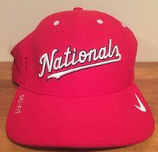 5b4bdf0e9977f Washington Nationals Nike MLB Vapor Mesh Logo Flex Cap Hat Size Small-Med