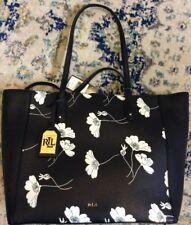 Ralph Lauren Women Zip Tote Shoulder Bucket Bag