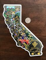 Sticker of all California Sheriff's Departments patches: Sacramento, Placer, LA
