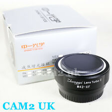 Zhongyi Lens Turbo II Reducer Booster M42 Screw to Fujifilm FX Adapter X-pro2 T1