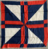 "Vintage ECHO Junction Red White Blue Large 31"" Square Silk Scarf Scarve"