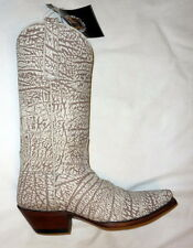 "Star W6909 Size 9B Womens 12"" Buffalo Cowboy Western Boots Full Sueded BONE NEW!"