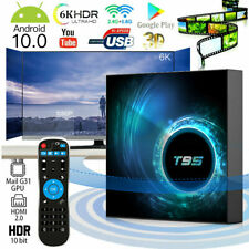 T95 Android 10.0 Smart TV Box 4K 6K HDR 4GB+128GB WiFi BT 5.0 Con Tastiera Q1S7