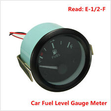 "2"" 52MM Car Automobile Universal 12V FUEL LEVEL METER DIAL GAUGE E-1/2-F Pointer"
