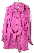 Joan Rivers Water Resistant Pink Trench Coat Jacket M Medium 10 12 A221978 New