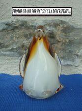 V16 Statue Figurine PINGOUIN Cristal Verre soufflé MURANO statuette animal