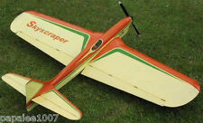 "Model Airplane Plans (UC): SKYSCRAPER Classic Palmer 60"" UC Stunt for .45 Engine"