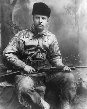 THEODORE TEDDY ROOSEVELT THE HUNTER 1885 11x14 SILVER HALIDE PHOTO PRINT