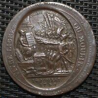 MONNERON 5 SOLS AU SERMENT 1792 L'AN IV FAUTÉ FRAPPE DECENTRE